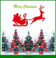 Wholesale The Missing Reindeer Home Decals Merry Christmas Wall Decal Zooyoo Xmas15 Festival Sleigh Santa Xmas Home Decor