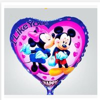 inflatable - 2014 new Party Foil Mickey and Minney heart shaped Balloon Inflatable Frozen Party Wedding Christmas Balloons frozenc1343