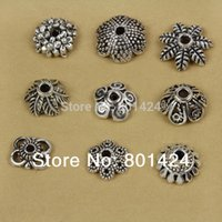 bali crafts - tibetan Antique StyleTone antique silver plated spacer bali beads caps craft accessories