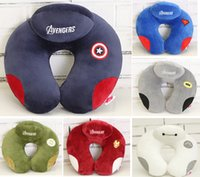 Wholesale Newest Avengers Hero Cartoon U Shaped Car Seat Travel Neck Saver Head Rest Pillow Support Cushion Case Cover Pad Mat Nap Office Protector