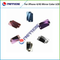 Mirror - Mirror Color LCD Display with Touch Screen Digitizer For iPhone G GSM CDMA color Back Housing Home Button