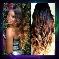 Wholesale 6A grade Brazilian remy virgin hair b ombre color human hair three tone full lace wig glueless