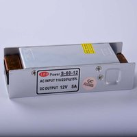 Wholesale LED Power Supply V A W LED Driver Power Adapter Switching V to V Lighting Transformers Aluminum Non Waterproof