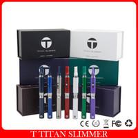 Wholesale 100 Original T Titan Slimmer Herbal Vaporizer Pen Starter Kit mAH Battery Dry Herb Ecigarette Pen Style Carbon Fiber Snoop Dogg Vape
