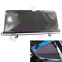 Wholesale 1SET Black Car Auto Window Roll Blind Sunshade Windshield Sun Shield Visor x125cm