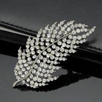 amber leaf - 2016 new fashion Korean version of the full diamond diamond leaf brooch diamond crystal brooch pin holding flowers accessories