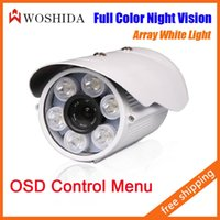 Wholesale 6 Array White LED Day Night Outdoor Bullet Camera CCTV Camera Security Camera Night Vision With OSD Menu Woshida