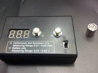 battery resistance meter - Resistance tester Digital Ohm meter Voltmeter for battery Ohm Reader for RBA RDA ego evod ce4 MT3 hayi supply