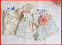 Wholesale Lace Drawstring Shorts - Hot Sale 2016 Summer Girls Flower Shorts Child Clothing Wear Summer Shorts Children Casual Pants Girls Cute Lace Pink Shorts Kids Pants 2-5T