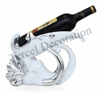 bar furniture for home - Fashion furniture display ornaments Elephant style wine holder creative crafts for club bar living room decoration