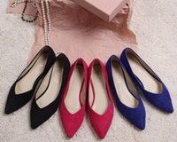 Wholesale 2015 New Womens Ladies Girls Flats Dolly Pointed Toe Ballerina Ballet Pumps Flat Shoes