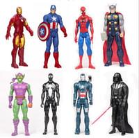 action figures avengers - 2015 Cartoon The Avengers Captain America Spiderman Thor Batman Hulk Wolverine Action Figures Toy PVC Figure inch MC