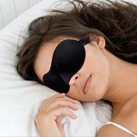 Wholesale 3D Sleep Eye Mask Portable Soft Travel Black Sleeping Mask Cover Eye Patch Rest Aid Comfort Eyeshade Blindfolds