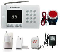 Wholesale Wireless Home PSTN Security Burglar Alarm System Auto Dialing Dialer Easy DIY Motion Detector Door windows sensor