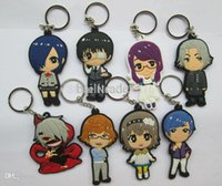 free shipping anime - Cheap Hot Selling Japanese anime Tokyo Ghoul Keychain Set set Anime PVC Toys