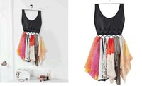 Wholesale SMILE MARKET New Arrival Selling Well Ring Scarf and Tie Rack Color Rose Red Black