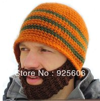 Wholesale New Arrival Beard Hat Knitted Beard crochet Wool Caps Beanie Winter Warm Outdoor Hat Christmas Gift Colors Choose