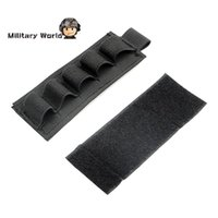 ammo pouch lot - 3pcs Tactical Military Shell GA Reload Strip Shotgun Bullet Pouch Holder Airsoft Hunting Shooting Ammo Carrier Black order lt no tra