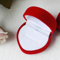 Jewelry Boxes accessories wedding favor - Romantic velvet heart shaped Bride bridegrooms ring box Jewelry earrings gift boxes wedding favor accessories HJ001