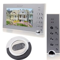 Wholesale Intercom System IR Camera for Villa Home Apartment Door bell quot TFT LCD Color Video Doorphone Doorbell with Night Vision order lt no track