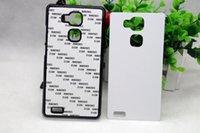 Para HuaWei mate 7 DIY sublimación caso en blanco con pegamento y metálicos insertos, 100pcs caja de transferencia de calor / lot