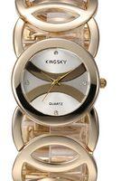Wholesale 2015 KINGSKY Brand Stainless Steel Women s Quartz Watch Japan Movement Relogio Feminino Rhinestone Dress Wristwatch Hot XKB54