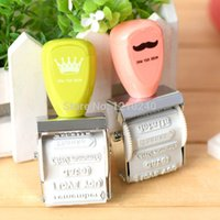 stamps - New Rubber Stamp Fashion Pattern Wheel Stamp Diy Ornament Child Toys Fashion Gift two color for choose
