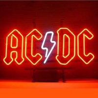ac dc commercial - 17 quot x14 quot AC DC Design Real Glass Neon Light Signs Bar Pub Restaurant Billiards Shops Display Signboards