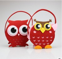 Wholesale 2014 colors owl DIY non woven basket Holiday gift hot selling carnival bag festival gifts bags DIY handcrafts TOPB528