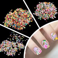 3d nail stickers - Pieces Bag Fimo Clay Series Fruit Flowers Animals DIY D Nail Art Decorations Nails Art Decoration Sticker Design
