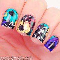 water nail decals - 2 Patterns Sheet Flower Painting Nail Art Water Decals Transfer Sticker BORN PRETTY BP W05