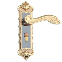 Wholesale best sale titanium black gold european style bedroom door lock indoor lock hardware locks
