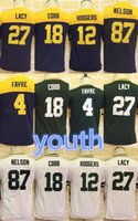 aaron rodgers jersey youth - Kid Youth jerseys Aaron Rodgers Eddie Lacy Clay Matthews Jordy Nelson Stitched Packers Jerseys discount football jerseys