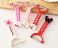 Wholesale Cartoon Hello Kitty My Melody Minnie Stainless Steal Kitchen Peeling Knives With Retail Packing