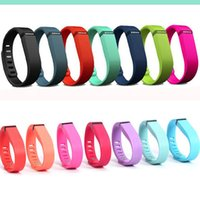 Wholesale Fitbit Flex Band Large Small Black with Metal Clasps Replacement Rubber TPU Wrist Strap Wireless Activity Bracelets Sport Wristband Free DHL