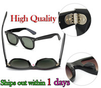Wholesale New High Quality Plank black Sunglasses glass Lens black Sunglasses beach sunglasses
