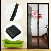 Wholesale 1pc Mesh Hand Free Screen Door Curtain Net Magnetic Anti Mosquito Bug ZH044 order lt no tracking