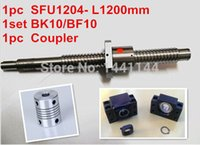 Wholesale Engraving Machines antibacklash ball screw L1200mm C7 BK BF10 Support mm coupler
