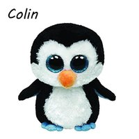Wholesale Ty Beanie Boos Original Big Eyes Plush Toy Doll Child Birthday Penguin TY Baby cm WJ159