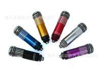 Wholesale LED Auto Car Air Freshener Purifier Ionic Purifier Oxygen Bar Ozone Ionizer Cleaner drop shipping