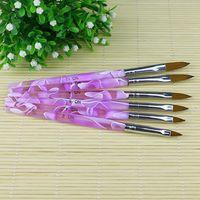 Wholesale Professional UV Gel Brush Nail Art Painting Drawing Brush Set MKV