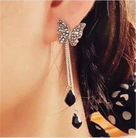 Cheap Butterfly pendant Best earrings tassel long