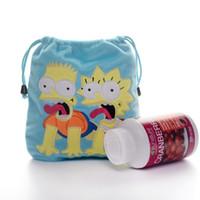 bart plush - 2015 Blue The Simpsons Movie Character Bart Lisa Simpson Plush Sack Drawstring Storage Bag Gift Sundries Pouch New LN