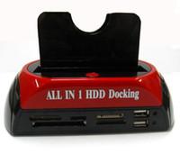 Wholesale 2 quot quot SATA IDE Double Dock HDD Docking Station e SATA Hub External Storage Enclosure Parts Free