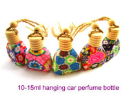 Wholesale NEW Polymer clay bottle air freshener fragrance oil diffuser car interior accessories Perfume bottles Chinese Art