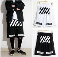 Wholesale Off white twill printed leisure sports men and women basketball shorts Pyrex hight quality