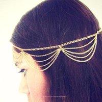 Bohimia Nueva barato-mujeres finas de señora Charm perlas artificiales cabeza diadema cadena de la joyería del casco de la venda del pelo Señora precioso regalo CPA187