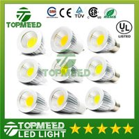 Wholesale Dimmable COB Led bulb W W W angle led spot lights GU10 E27 V MR16 V Led lamp lighting Led light
