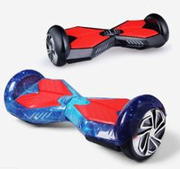 Wholesale 6 inch samsung Wheel Smart Balance Electric Scooter starry sky rhombus design Skateboard Motorized Roller Standing Board A5