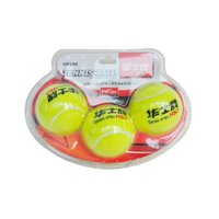 Wholesale 3pcs pack Quality Tennis ball for training synthetic fiber Good Rubber tenis balls low price on sale